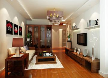 天津梵客家装83平两居室新中式