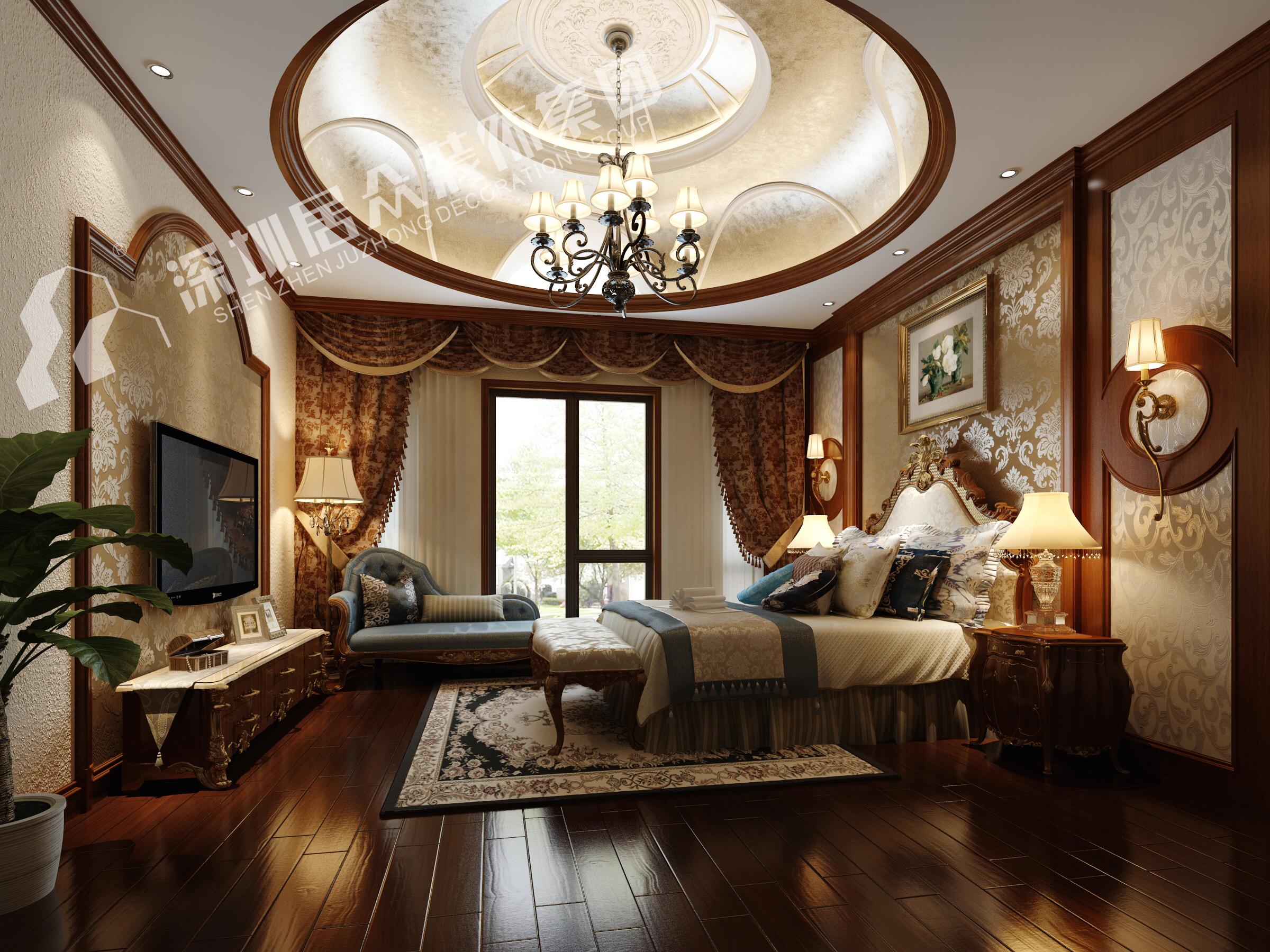 欧式 别墅 小资 卧室图片来自半城烟沙5949758236在复地花屿城——欧式风格的分享