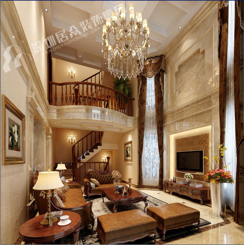 欧式 别墅 小资 客厅图片来自半城烟沙5949758236在复地花屿城——欧式风格的分享