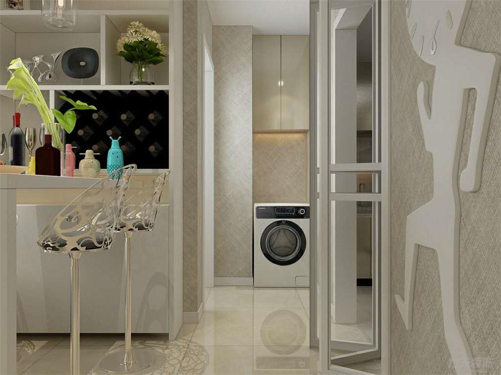 一室 混搭 白领 80后 小资 走廊 玄关图片来自阳光力天装饰在力天装饰-盛和家园70㎡的分享