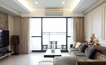 丹桂花园125平美式风格三室装修