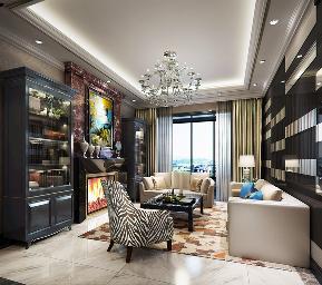 新古典 小资 书房图片来自北京轻舟幸福亿家装饰晶晶在新古典187平尽享品质生活的分享