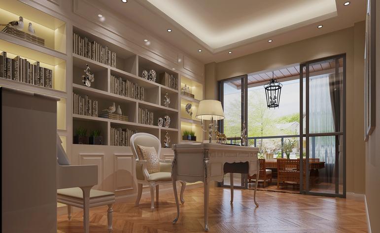 简约 四居 浪漫 书房图片来自居众-姚工在爱情公寓的分享