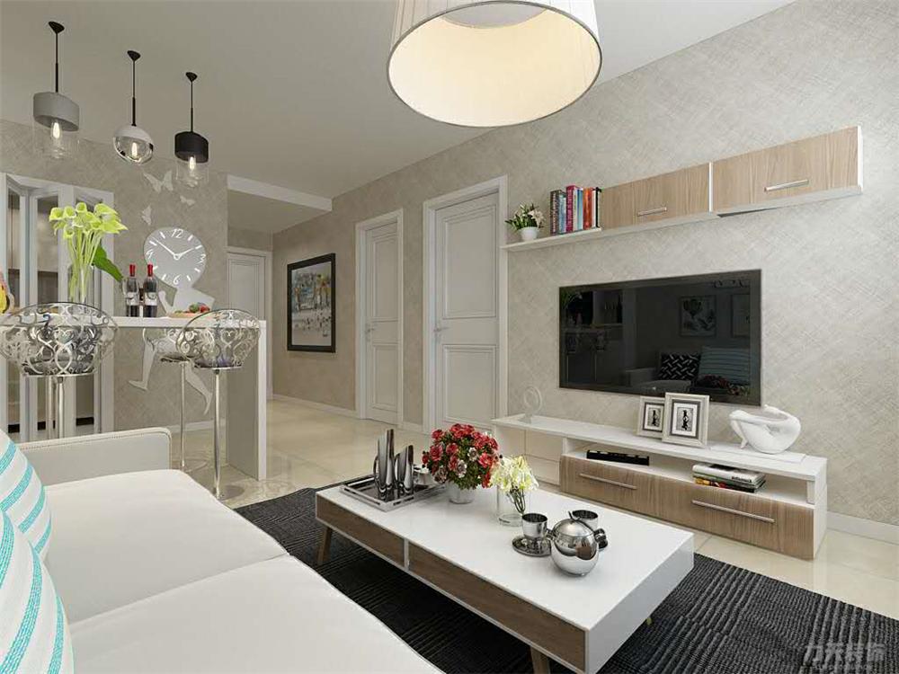 一室 混搭 白领 80后 小资 电视柜 客厅图片来自阳光力天装饰在力天装饰-盛和家园70㎡的分享