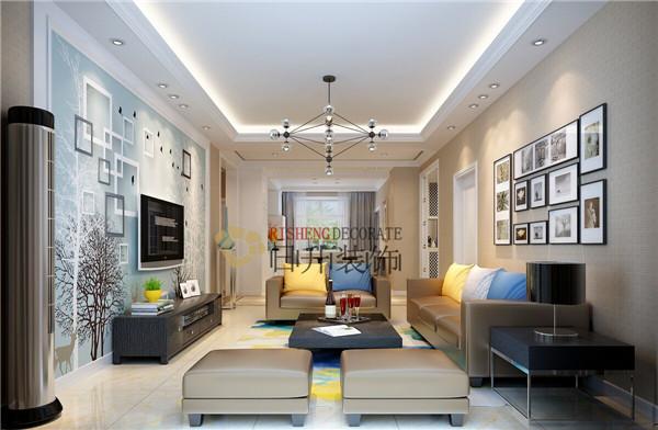 简约 三居 旧房改造 收纳 80后 客厅图片来自日升嬛嬛在逸翠园142平装修的分享