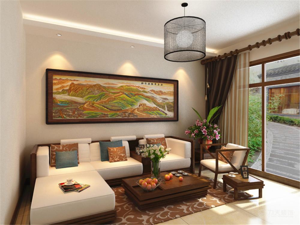 客厅图片来自阳光力天装饰在新中式风格  远洋风景  76㎡的分享