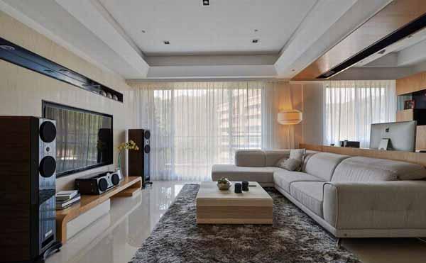 简约 三居 客厅图片来自上海潮心装潢设计有限公司在玉兰花苑118平米三居室装修的分享