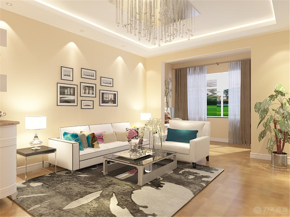 客厅图片来自阳光力天装饰在现代简约  荔雅家园  96㎡的分享