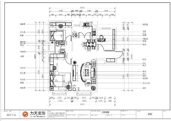 本户型是面积适中,户型方正,布局合理,客餐厅地面采用地砖,主次卧室采用强化复合地板。