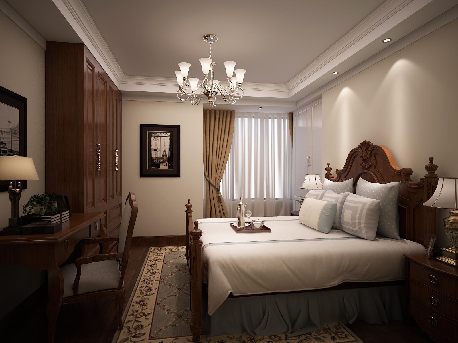 美式 家具 客餐厅 卧室 金色堤岸 卧室图片来自兰州实创装饰香香在金色堤岸 美式风格的分享