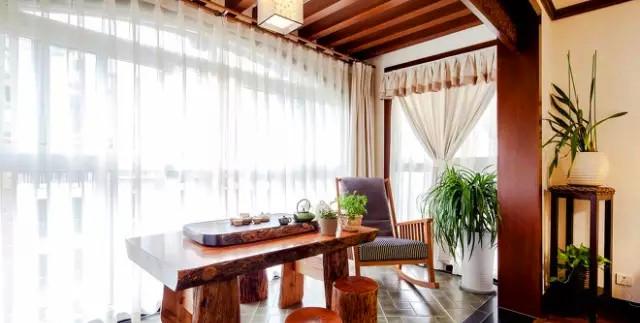 金泰 丽湾 三居 装修 设计 户型 阳台图片来自高度国际装饰宋增会在金泰丽湾103㎡东方韵味雅舍的分享
