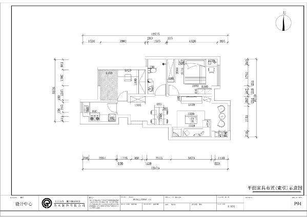 本户型为宝龙城两室两厅一厨一卫90平户型,首先,从入户门进入,正面映入眼帘的是通顶的玄关柜,玄关柜的左手边是次卧的空间,玄关柜的右手边是卫生间。