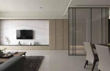 125平简约三居装修简单空间质感