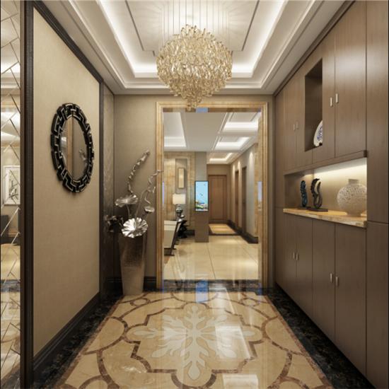 新中式 日升装饰 西安公司 西安装修 玄关图片来自日升装饰公司在西市佳境200平米新中式风格的分享