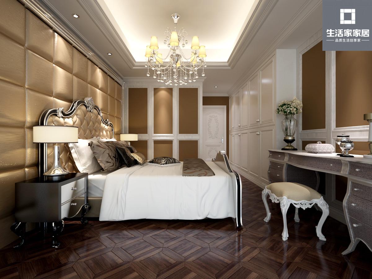 简欧 温暖 卧室图片来自武汉生活家在添翼苑 171平 四室两厅 简欧风格的分享