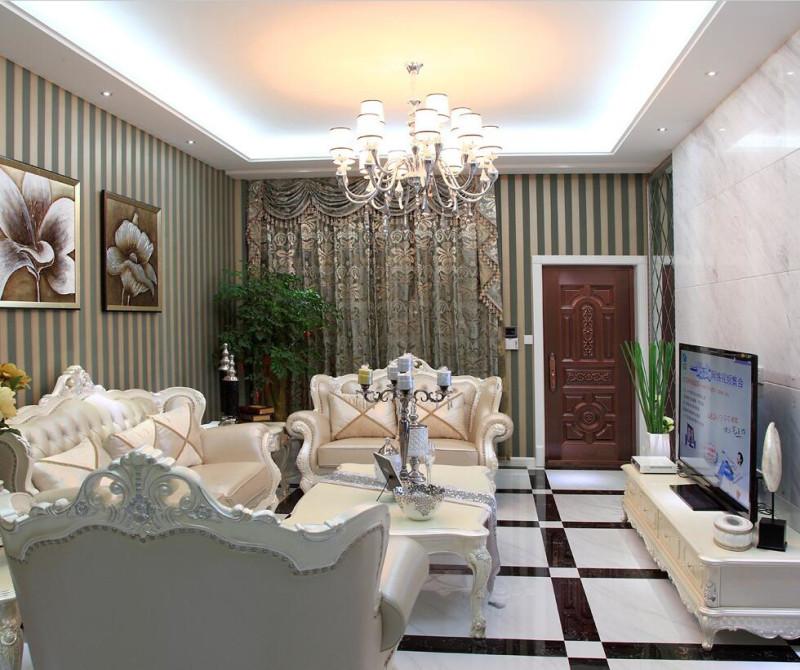 简约 混搭 三居 白领 80后 小资 客厅图片来自成都V2装饰在空间的温情与善意的分享