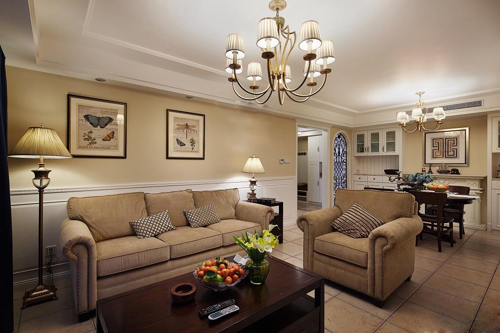美式 客厅图片来自安豪装饰在华 润 橡 树 湾的分享