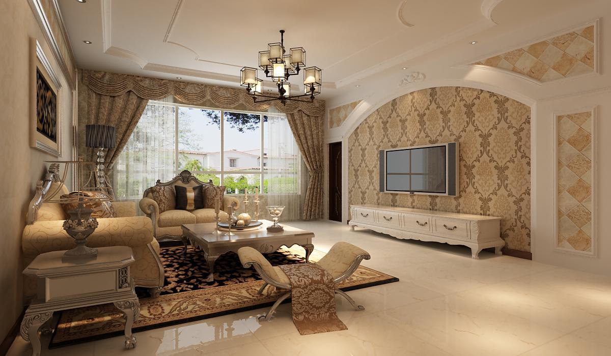 跃层 未来城 欧式风格 客厅图片来自百家设计小刘在未来城215平欧式风格半包8.75万的分享