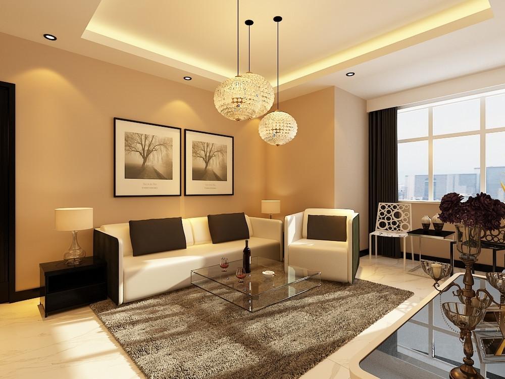客厅图片来自阳光力天装饰在现代简约 四季恋城  89.8㎡的分享