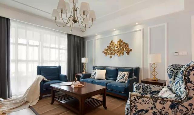 K2 玉兰湾 美式 装修 设计 三居 客厅图片来自高度国际装饰宋增会在玉兰湾134㎡灵动美式 风格的分享