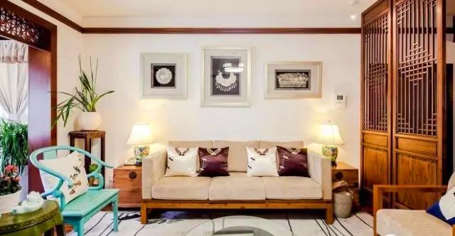 金泰 丽湾 三居 装修 设计 户型 客厅图片来自高度国际装饰宋增会在金泰丽湾103㎡东方韵味雅舍的分享