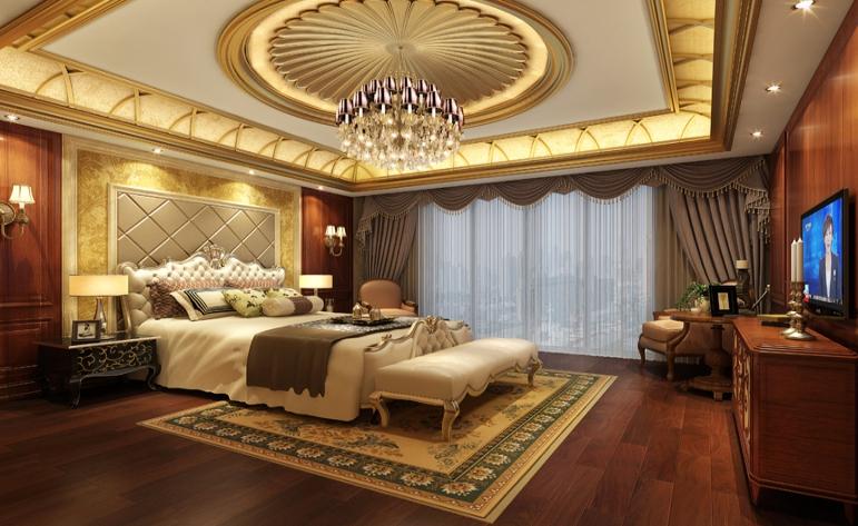 欧式 混搭 别墅 卧室图片来自居众-姚工在休闲大气,沿袭古典风情的分享