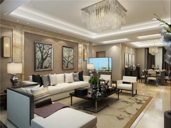 新中式 日升装饰 西安公司 西安装修 客厅图片来自日升装饰公司在西市佳境200平米新中式风格的分享