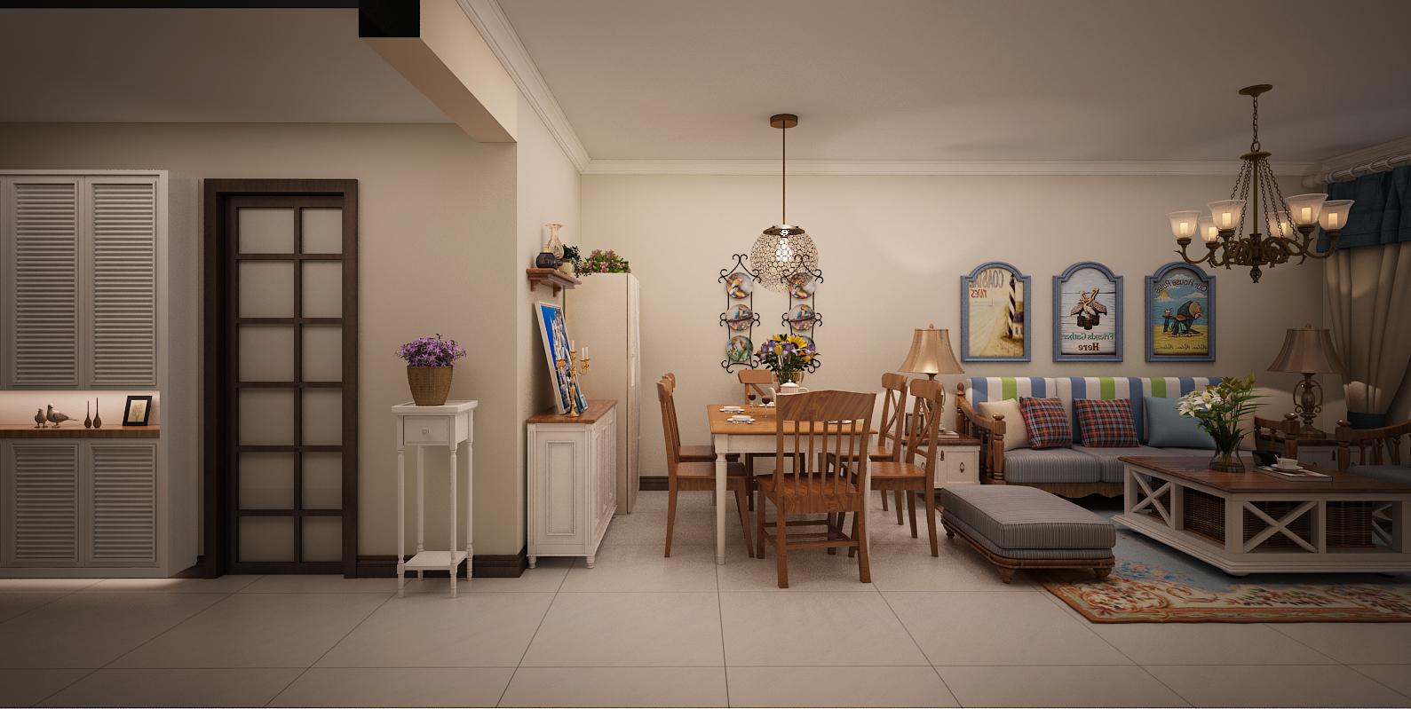 田园 二居 效果图 客厅 玄关图片来自兰州实创装饰香香在田园风格-城南国际的分享