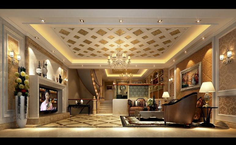 欧式 混搭 别墅 客厅图片来自居众-姚工在休闲大气,沿袭古典风情的分享