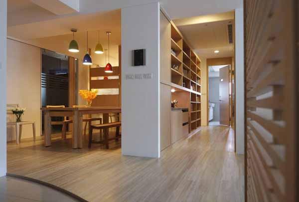 简约 三居 餐厅图片来自上海潮心装潢设计有限公司在116平装修简约设计增添空间表情的分享