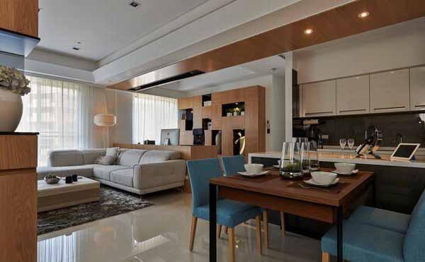 简约 三居 餐厅图片来自上海潮心装潢设计有限公司在玉兰花苑118平米三居室装修的分享