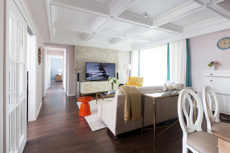 三居 客厅图片来自今朝装饰张智慧在首开璞瑅公馆简美风格设计的分享