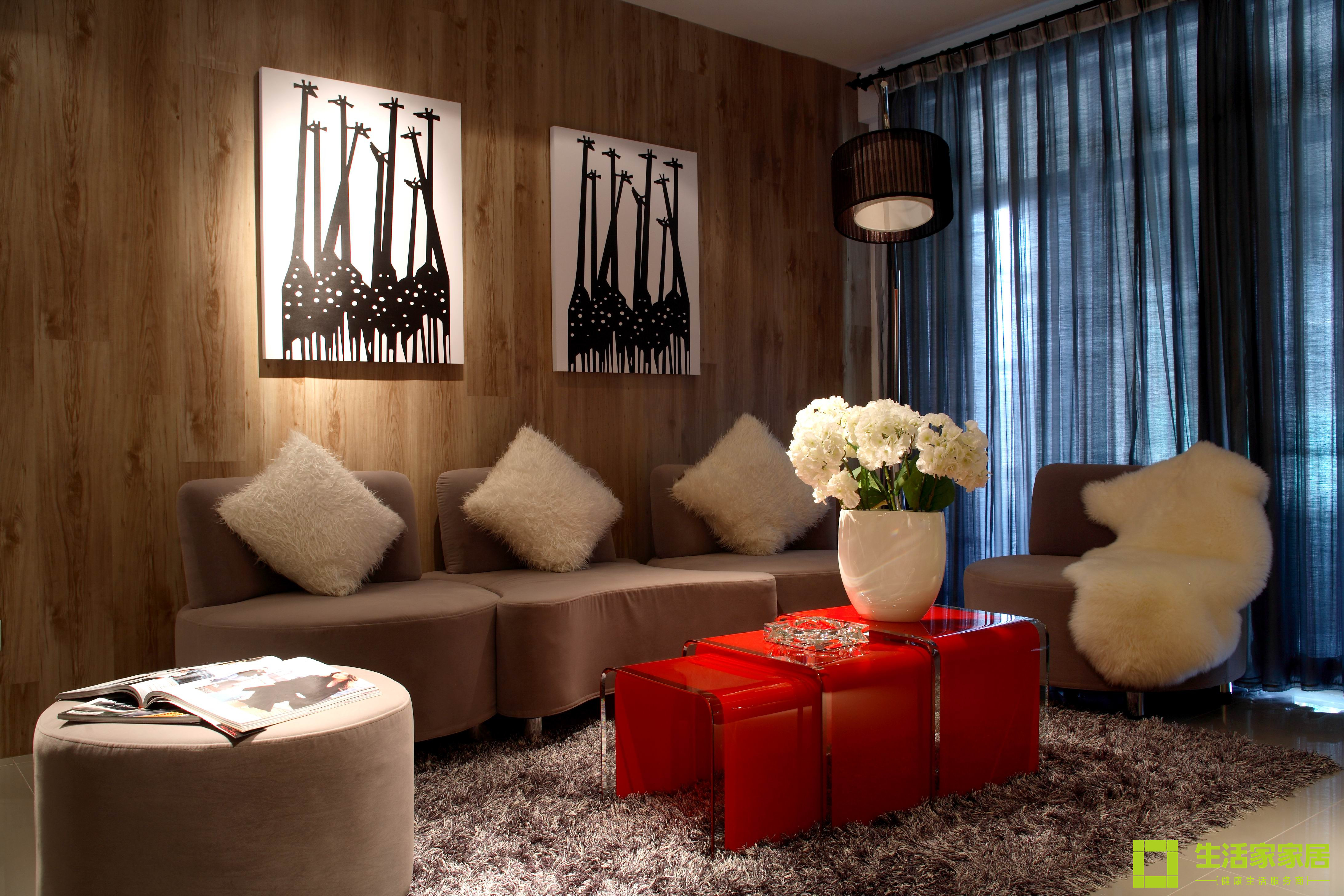 简约 三居 白领 收纳 80后 小资 现代简约 生活家家居 客厅图片来自天津生活家健康整体家装在中信城市广场 现代简约的分享