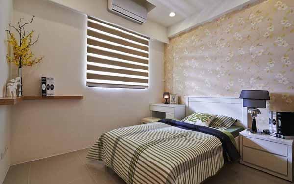 混搭 三居 卧室图片来自上海潮心装潢设计有限公司在109平混搭风格三居室装修设计的分享