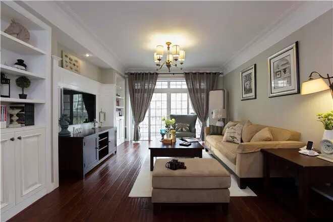 简约 欧式 田园 混搭 三居 别墅 白领 收纳 旧房改造 客厅图片来自日升装饰秋红在美式风格的分享