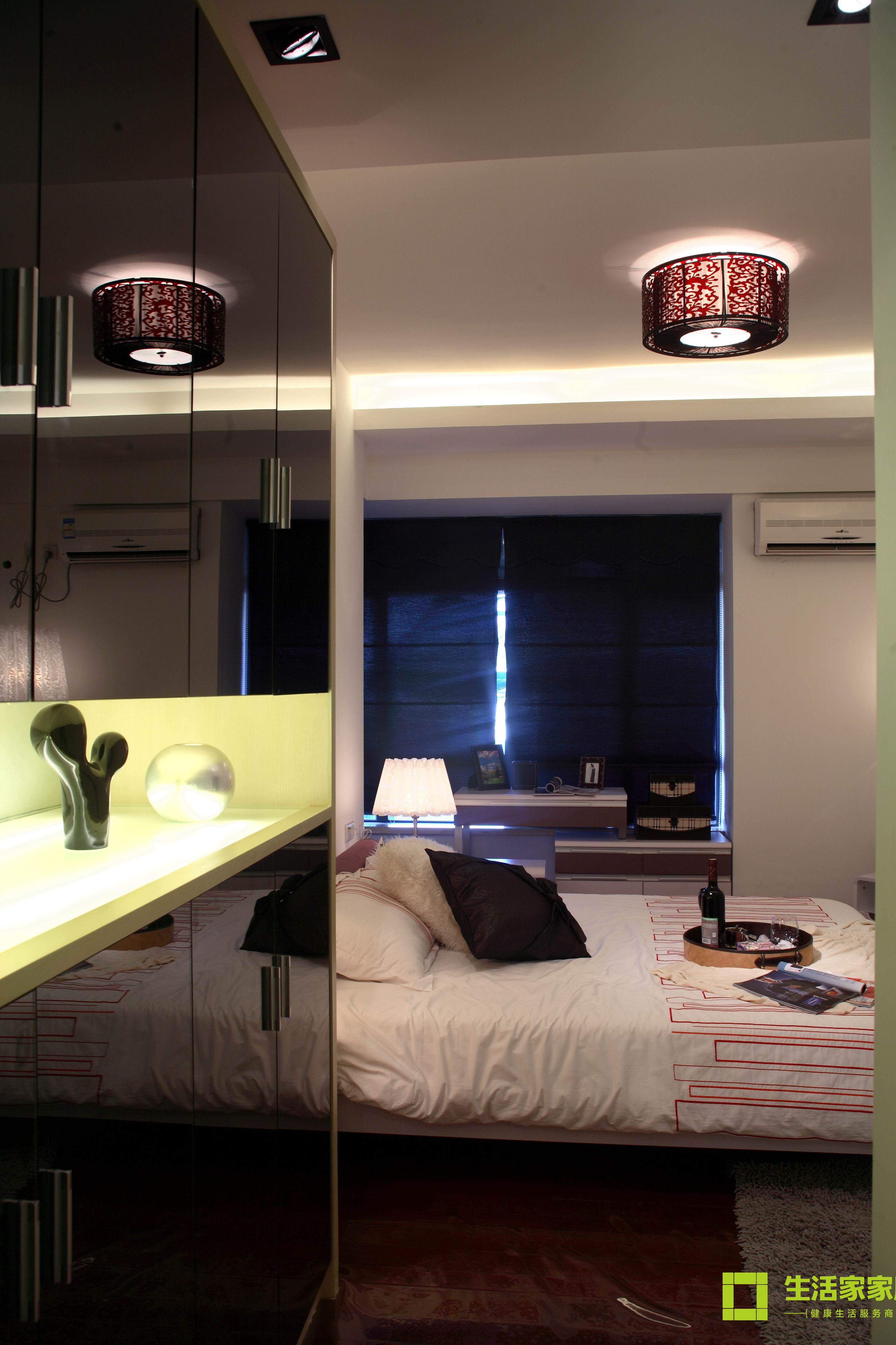 简约 三居 白领 收纳 80后 小资 现代简约 生活家家居 卧室图片来自天津生活家健康整体家装在中信城市广场 现代简约的分享
