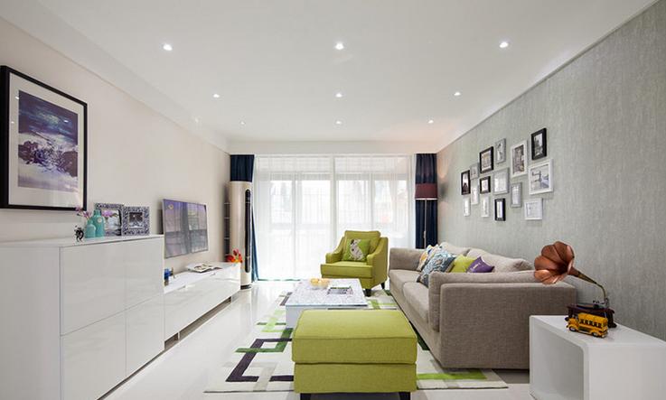 简约 三居 客厅图片来自西安紫苹果装饰工程有限公司在智慧新城1的分享