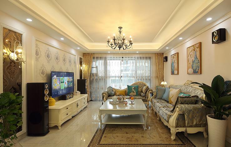 欧式 客厅图片来自西安紫苹果装饰工程有限公司在龙湖香醍的分享