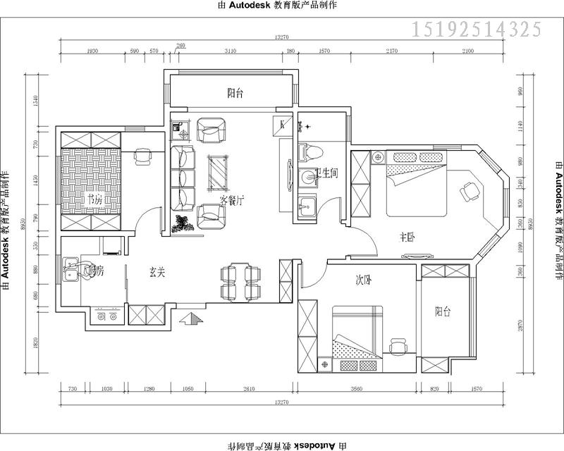 实创 印象湾 三居室 户型图图片来自快乐彩在印象湾124平后现代的分享