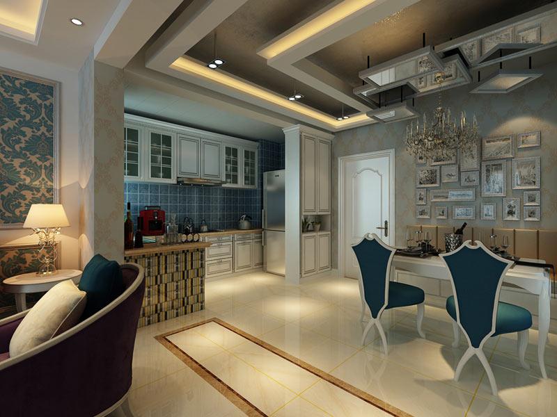 现代 餐厅图片来自安豪装饰在恒 大 华 府的分享
