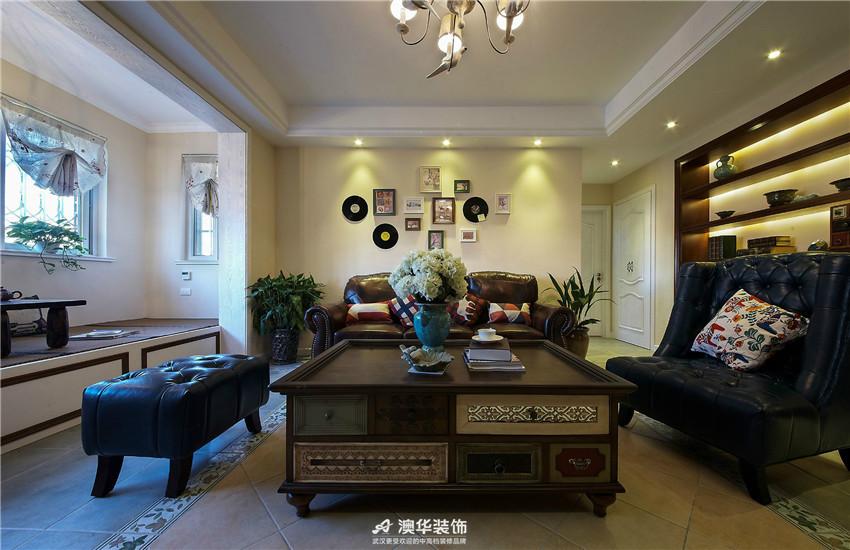 客厅图片来自澳华装饰有限公司在三金华都 · 美式田园 返璞归真的分享