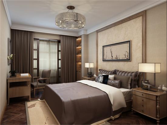 新中式 日升装饰 西安公司 西安装修 卧室图片来自日升装饰公司在西市佳境200平米新中式风格的分享