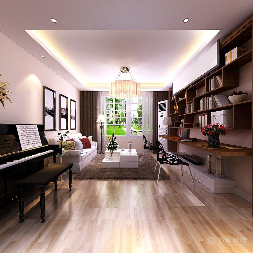 客厅图片来自阳光力天装饰在现代风格  香邑国际  93㎡的分享