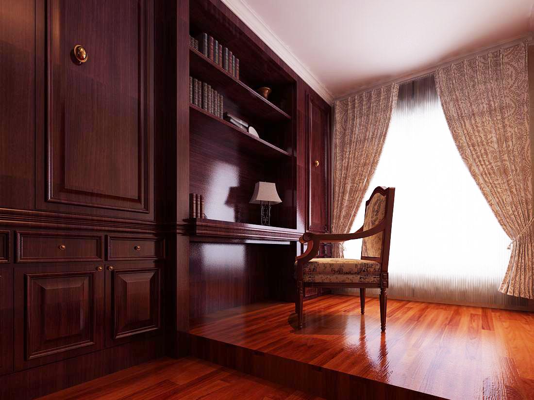 跃层 未来城 欧式风格 书房图片来自百家设计小刘在未来城215平欧式风格半包8.75万的分享