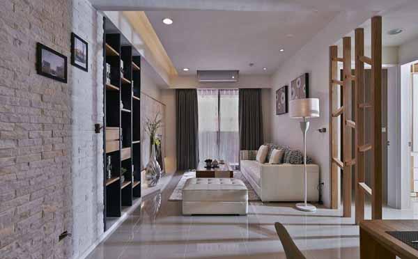 混搭 三居 客厅图片来自上海潮心装潢设计有限公司在109平混搭风格三居室装修设计的分享