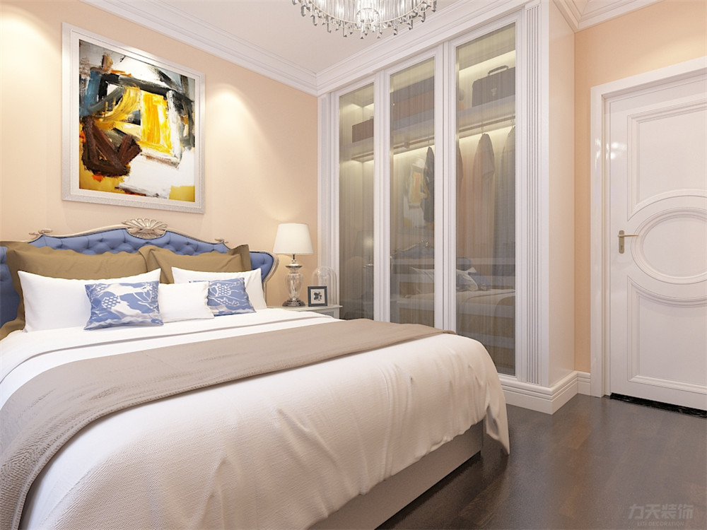 欧式 三居 收纳 80后 小资 白领 卧室图片来自阳光放扉er在力天装饰-津南新城135㎡的分享