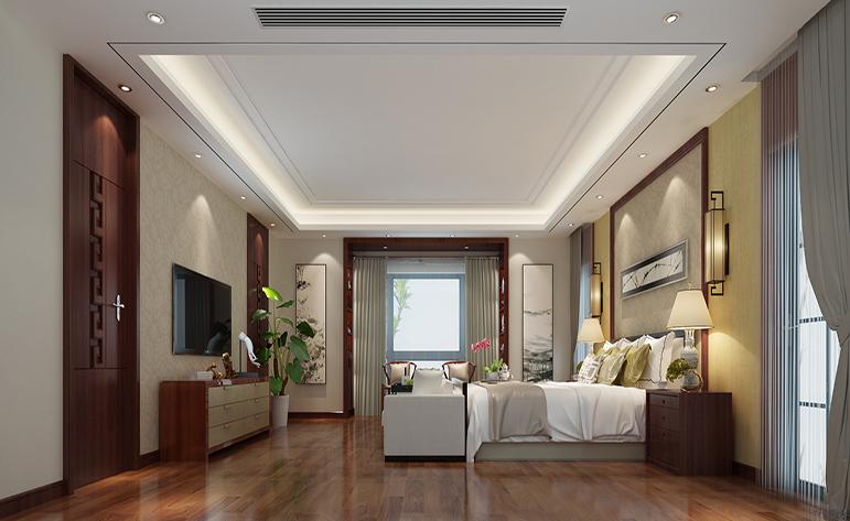 混搭 别墅 地中海 卧室图片来自居众-姚工在悠闲大气,宁静自然的分享
