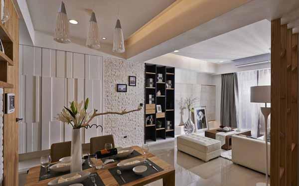 混搭 三居 餐厅图片来自上海潮心装潢设计有限公司在109平混搭风格三居室装修设计的分享