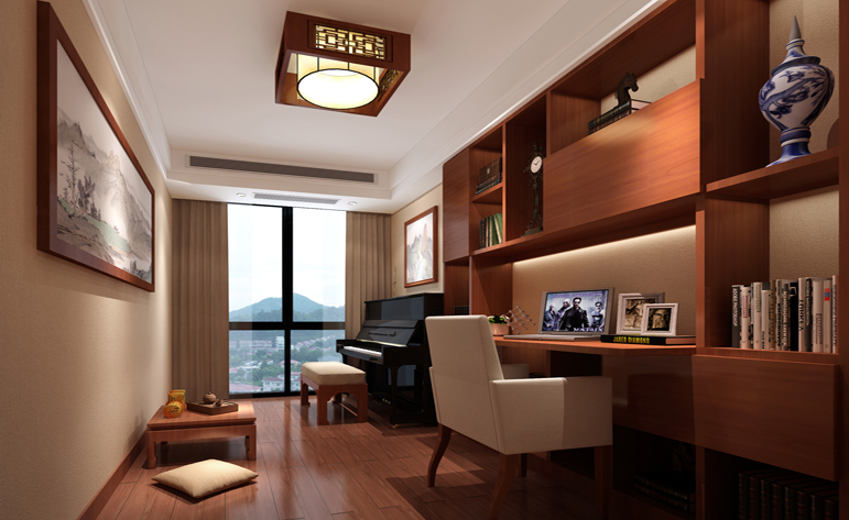 书房图片来自半城烟沙5949758236在万科悦湾——中式风格的分享