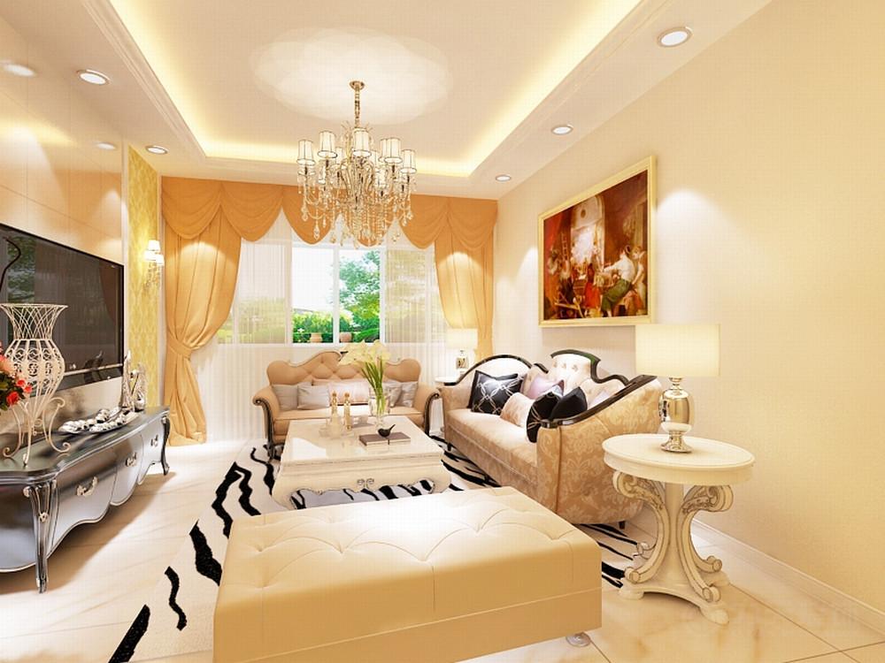 客厅图片来自阳光力天装饰在简欧 保利上河雅颂 110㎡的分享
